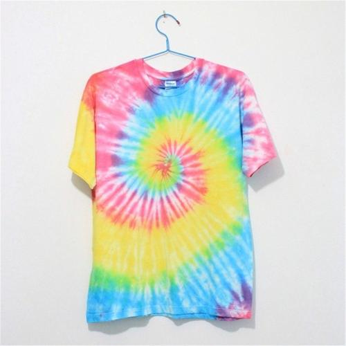 MP Mutilcolor Spiral Tie Dye Short Sleeve T Shirt by Magic Pieces T-Shirt in Hall Pass