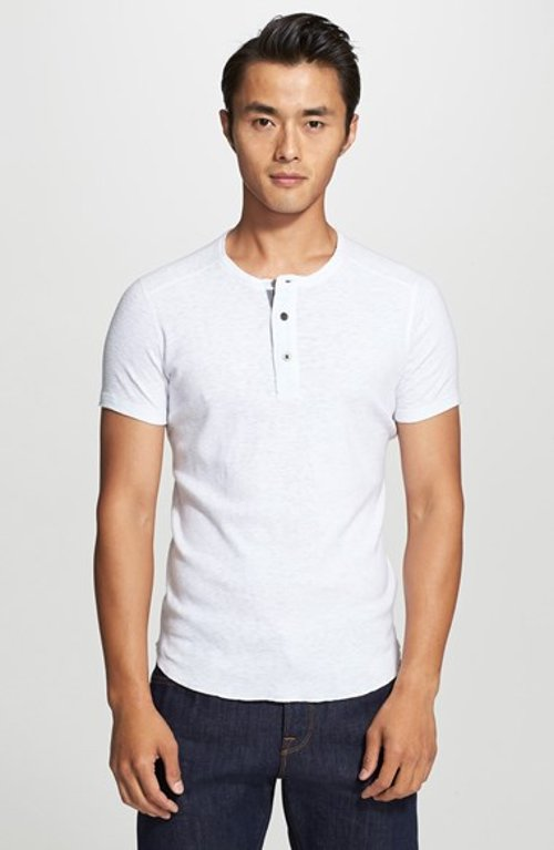 Slub Short Sleeve Henley Shirt by Wings + Horns in Need for Speed