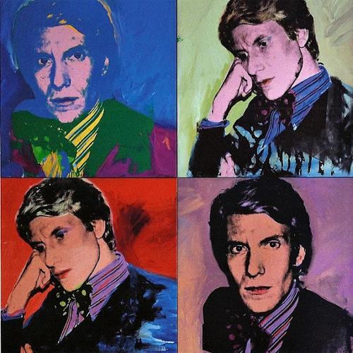 Portrait Panels of Yves Saint Laurent by Andy Warhol in Yves Saint Laurent