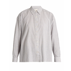 The Slouchy Striped Cotton Shirt by The Great in Modern Family