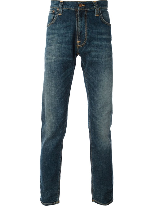 Straight Leg Jeans by Nudie Jeans Co in Fight Club