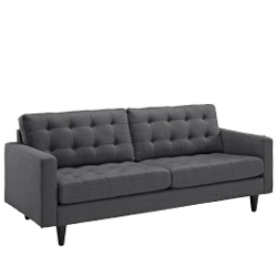 Empress Upholstered Sofa by Lexmod in Before I Wake