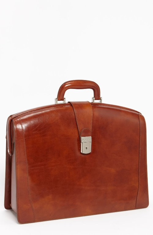 Triple Compartment Leather Briefcase by Bosca in The Man from U.N.C.L.E.