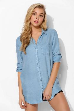 Washed-Out Button-Down Shirt by Margot in No Strings Attached