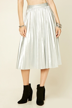 Faux Leather Midi Skirt by Forever21 in Scream Queens