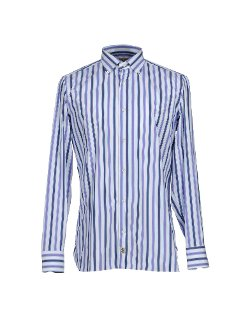 Stripe Button Down Shirt by Luigi Borrelli Napoli in The Other Woman