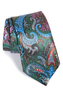 'Quindici' Paisley Print Silk Tie by Ermenegildo Zegna in Regression