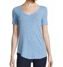 Cotton Slub Scoopneck Tee by ATM Anthony Thomas Melillo in Sisters