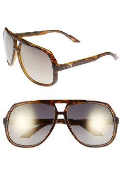 Logo Temple Aviator Sunglasses by Gucci in Entourage