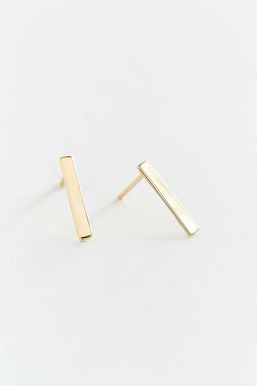 Upper Metal Bar Earrings by Urban Outfitters in Pretty Little Liars