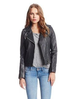 Women's Moto Jacket with Zipper by Doma in Vice