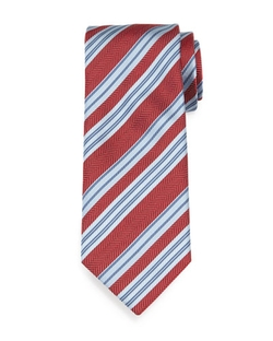 Textured Herringbone-Stripe Silk Tie by Brioni in American Horror Story