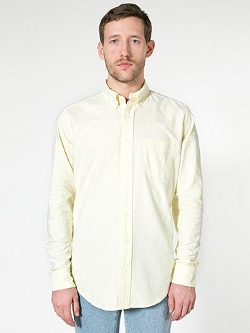 Long Sleeve Button Down Shirt by American Apparel in Fight Club
