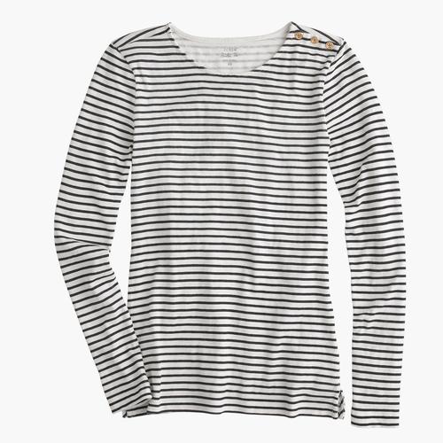 Long-Sleeve Striped Painter T-Shirt by J.Crew in Modern Family - Season 7 Episode 1