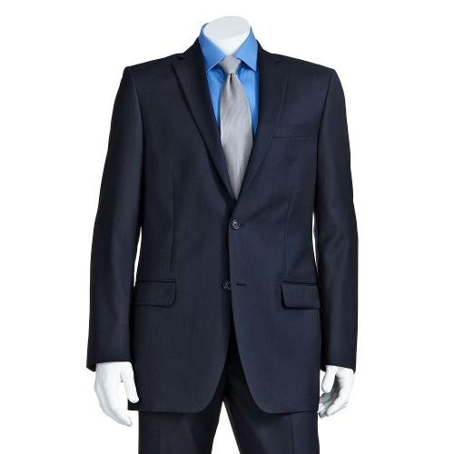 Modern-Fit Wool Navy Suit Jacket by MARC ANTHONY in This Is Where I Leave You