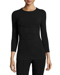 Uotab Ribbed Stretch-Knit Top by Theory in Supergirl