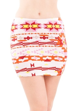 Abstract Graphic Print Mini Skirts by Clothes Effect in Mean Girls