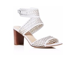 Weslyn Perforated Block Heel Ankle Strap Sandals by Via Spiga in Jane the Virgin