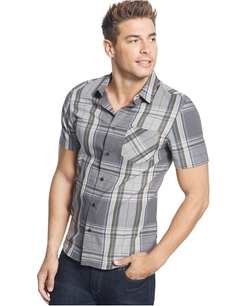 Lincoln Dobby Plaid Shirt by Guess in Supergirl