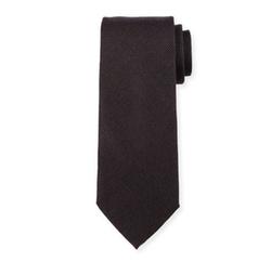 Solid Textured Silk Tie by Charvet in John Wick