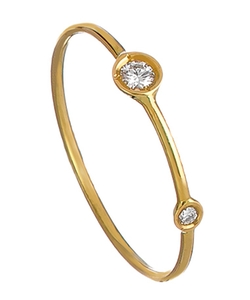 Gold And Diamond Mini Stacking Ring by Ariel Gordon in Bridesmaids