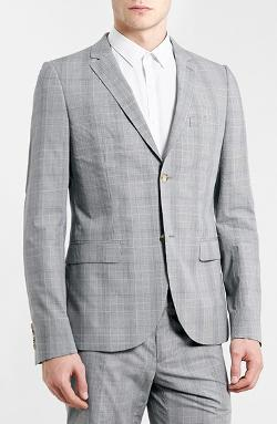 Skinny Fit Suit Jacket by Topman in The Hundred-Foot Journey