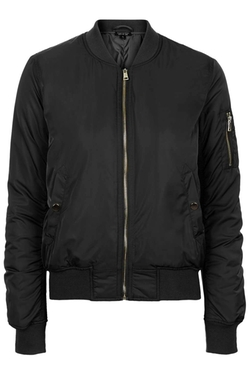 True MA1 Padded Bomber Jacket by TopShop in Secret in Their Eyes