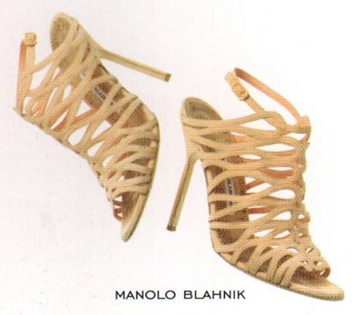 Leather Cage Sandals by Manolo Blahnik in Sex and the City 2