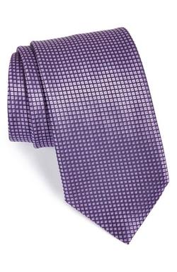 Geometric Silk Tie by Ermenegildo Zegna in Suits