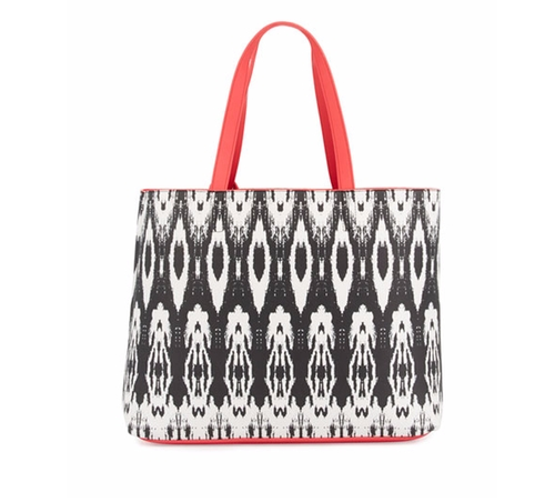 Ikat-Print Reversible Tote Bag by Neiman Marcus in The Boss