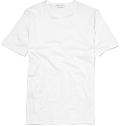 Crew Neck Cotton T-Shirt by Sunspel in Life