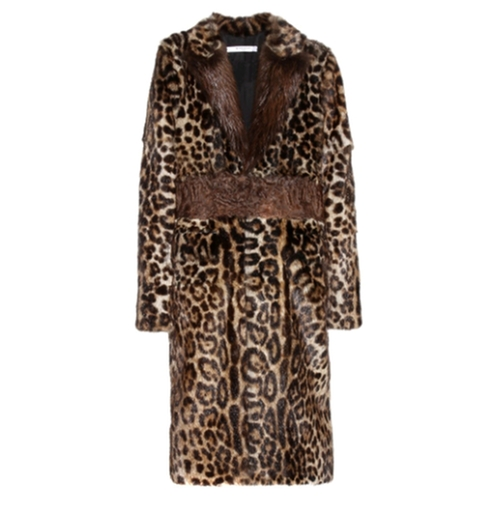 Multicolor Leopard Print Fur Coat by Givenchy in Keeping Up With The Kardashians - Season 12 Episode 4