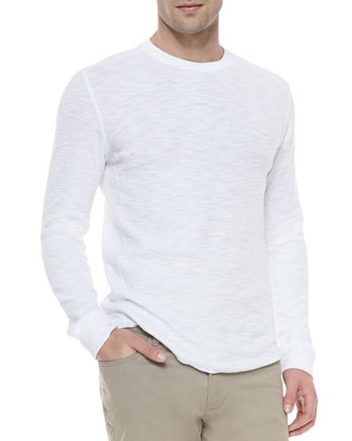 Long-Sleeve Slub Thermal Shirt by Vince in No Strings Attached