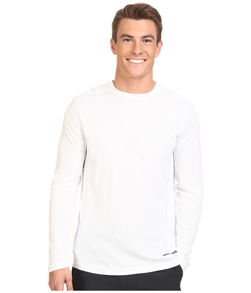 Microcool Long Sleeve Crew Shirt by Terramar in Cut Bank