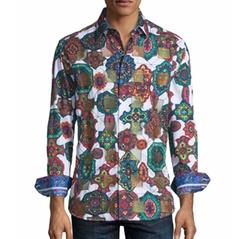 Prancer Mosaic Kaleidoscope Sport Shirt by Robert Graham in Going In Style