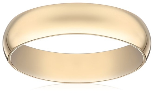 Light Comfort Fit Wedding Band by Amazon Collection in Black Mass