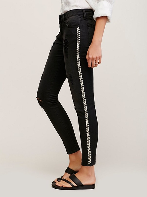 Studded Skinny Jeans by Free People in Animal Kingdom - Season 1 Episode 7