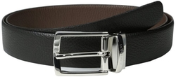 Pebble Grain Reversible Leather Belt by A. Testoni in Scandal