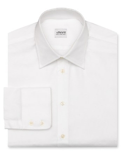 Solid Oxford Dress Shirt by Armani Collezioni in Self/Less