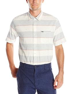Back Burner Short Sleeve Shirt by Rip Curl in Flaked