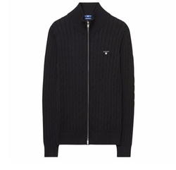 Cable Zip Cardigan by Gant in Power