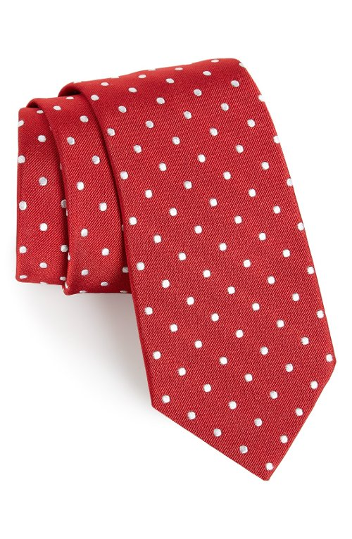 Polka Dot Silk Tie by Gitman in Pitch Perfect 2