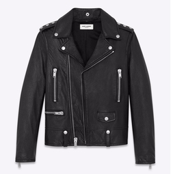 Heart Studded Motorcycle Jacket by Saint Laurent in Keeping Up With The Kardashians