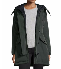 Aredhel Hooded Down Fur-Trim Jacket by Moncler in How To Get Away With Murder