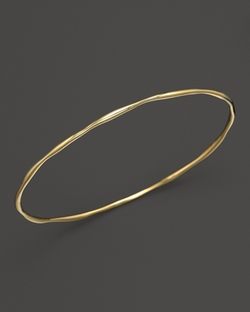 Gold Squiggle Bangle Bracelet by Ippolita in Suits