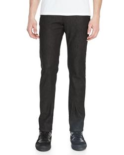 Trend-Fit Denim w/Leather Detail by Versace in Addicted
