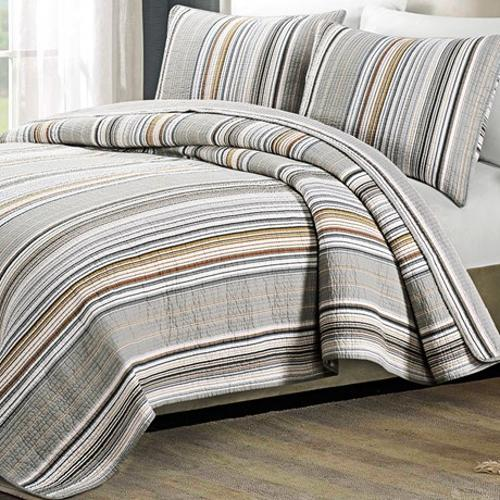 Stripe Cotton Quilt Set by Vantage Crown Mesa in Neighbors