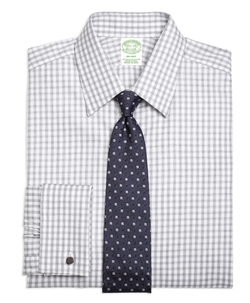Gingham French Cuff Dress Shirt by Brooks Brothers in Ballers