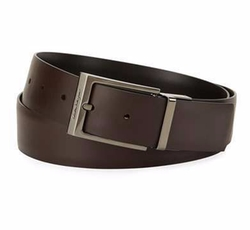 Paloma Reversible Leather Belt by Salvatore Ferragamo in Molly's Game