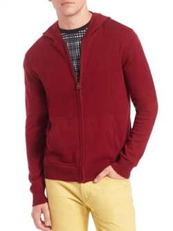 Full Zip Hoodie by Saks Fifth Avenue Collection in Guilt